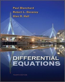 Blanchard P., Differential Equations, 4th ed, 2012