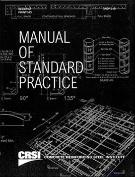 Concrete Reinforcing Steel Institute, Manual of Standard Practice, 2003
