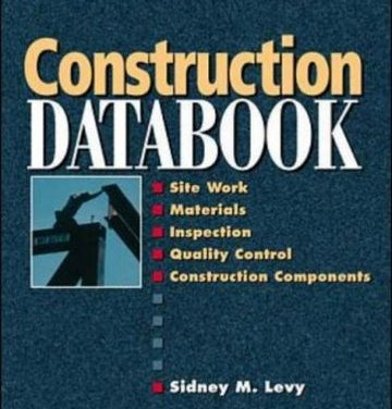 دانلود کتاب Construction Databook, Sidney Levy, Sidney M. Levy,1998