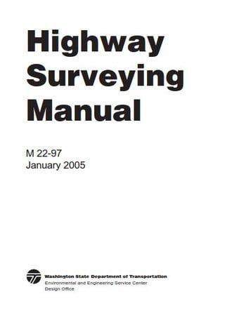 دانلود کتاب WSDOT, Highway Surveying Manual, 2005