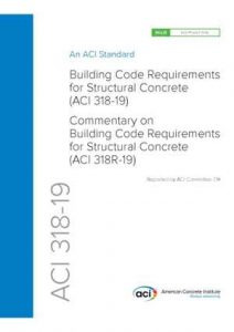 دانلود کتاب ACI 318-19, Building Code Requirements And Commentary For Structural Concrete, 19th ed, 2019